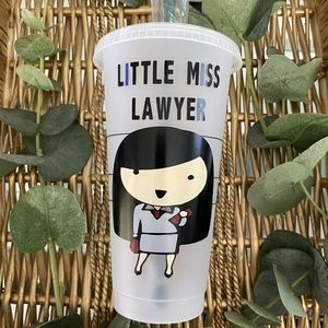 Starbucks Reusable Little Miss Lawyer Cold Cup